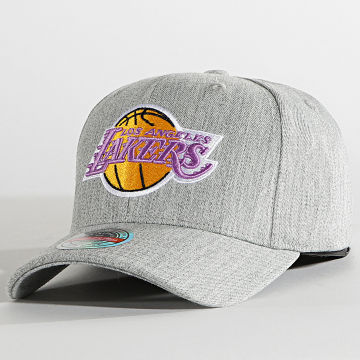Mitchell and Ness - Casquette Team Heather Snapback Los Angeles Lakers Gris Chiné