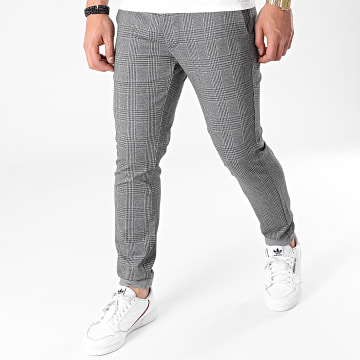 Only And Sons - Pantalon A Carreaux Mark Tap Gris Anthracite