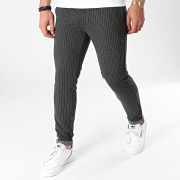 Only And Sons - Pantalon A Rayures Mark Gris Anthracite