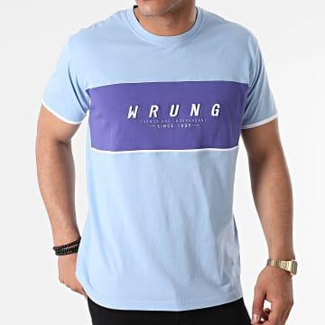 Wrung - Tee Shirt Block Bleu Clair