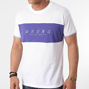 Wrung - Tee Shirt Block Blanc