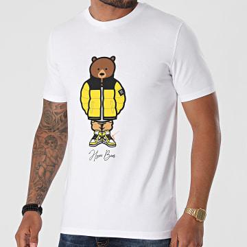 Luxury Lovers - Tee Shirt Hype Bear Yellow Puff Blanc