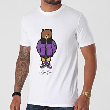 Luxury Lovers - Tee Shirt Hype Bear Purple Puff Blanc