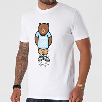 Luxury Lovers - Tee Shirt Hype Bear Blue Tee Blanc