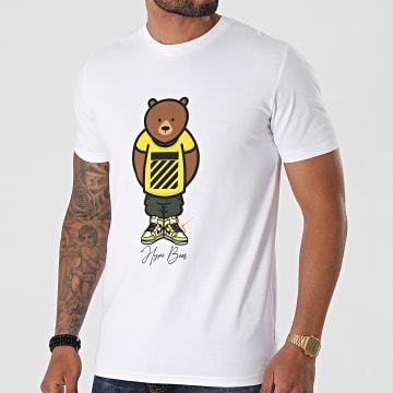 Luxury Lovers - Tee Shirt Hype Bear Yellow Tee Blanc