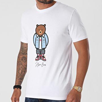 Luxury Lovers - Tee Shirt Hype Bear Jeans Blanc