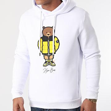 Luxury Lovers - Sweat Capuche Hype Bear Yellow Puff Hood Blanc