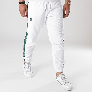 NI by Ninho - Pantalon Jogging A Bandes Uzi Blanc Vert
