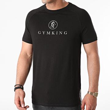 Gym King - Tee Shirt Réfléchissant Sport Pro Logo Noir
