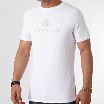 Gym King - Tee Shirt Réfléchissant Sport Pro Logo Blanc