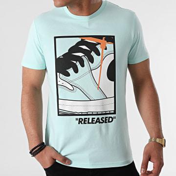 Luxury Lovers - Tee Shirt Released Vert Menthe
