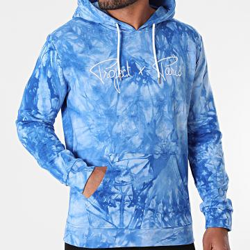 Project X Paris - Sweat Capuche Tie Dye 2120110 Bleu