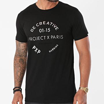 Project X Paris - Tee Shirt 2110152 Noir Iridescent
