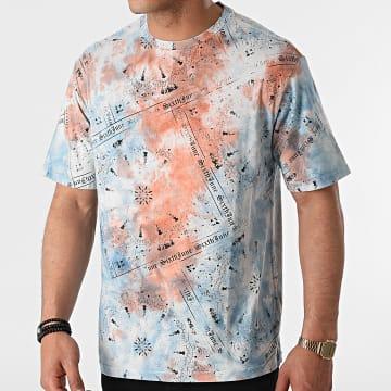 Sixth June - Tee Shirt M22308ETS Bleu Clair Orange Bandana