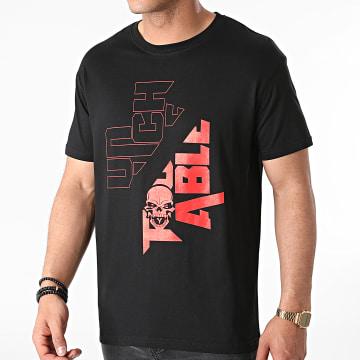 Untouchable - Tee Shirt New Logo Noir Rouge