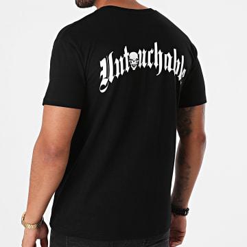 Untouchable - Tee Shirt New Logo Noir Blanc Rouge
