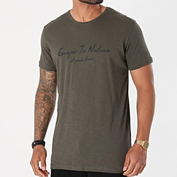Armita - Tee Shirt TJ-844 Vert Kaki Chiné