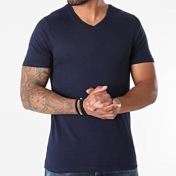 Armita - Tee Shirt Col V TV-350 Bleu Marine
