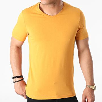 Armita - Tee Shirt Col V TV-350 Jaune Moutarde