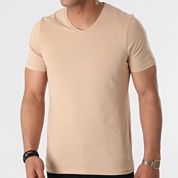 Armita - Tee Shirt Col V TV-350 Beige