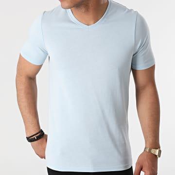 Armita - Tee Shirt Col V TV-350 Bleu Clair