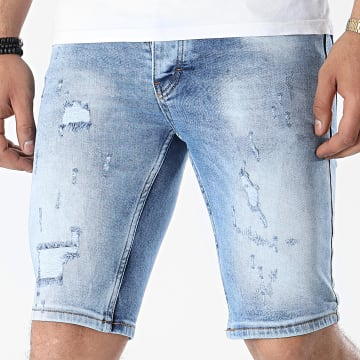 Armita - Short Jean Slim 1750 Bleu Denim