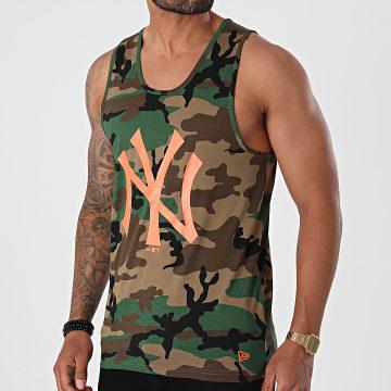 New Era - Débardeur MLB Neon New York Yankees 12369848 Marron Vert Camouflage