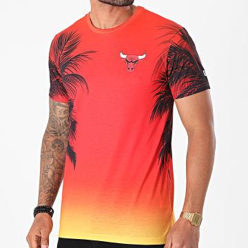 New Era - Tee Shirt Summer City AOP Chicago Bulls 12720095 Jaune Orange Sunset