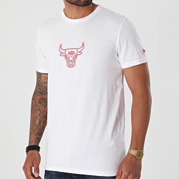 New Era - Tee Shirt NBA Chain Stitch Chicago Bulls 12720137 Blanc