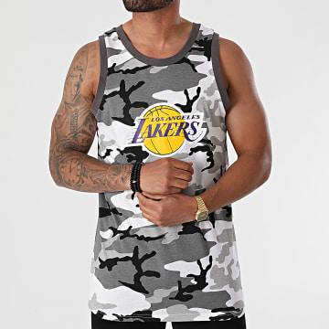 New Era - Débardeur NBA Camo Los Angeles Lakers 12720138 Blanc Gris Camouflage
