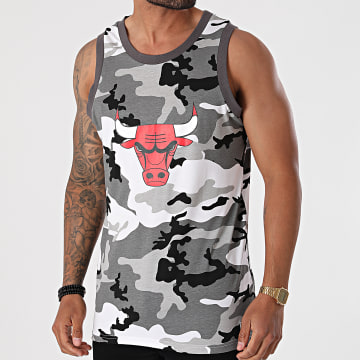 New Era - Débardeur NBA Camo Chicago Bulls 12720139 Blanc Gris Camouflage