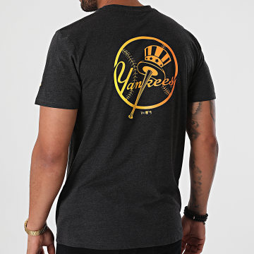 New Era - Tee Shirt MLB Neon New York Yankees 12720149 Gris Anthracite Chiné