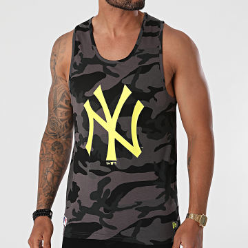 New Era - Débardeur MLB Neon New York Yankees 12720151 Gris Anthracite Camouflage
