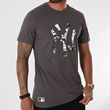 New Era - Tee Shirt MLB Camo New York Yankees 12720166 Gris Anthracite