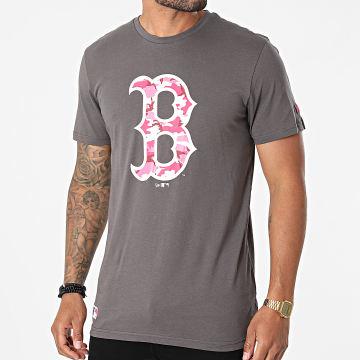 New Era - Tee Shirt MLB Camo Boston Red Sox 12720169 Gris Anthracite
