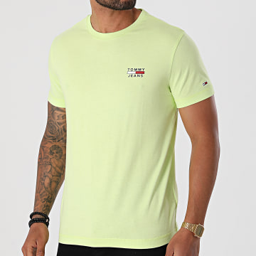 Tommy Jeans - Tee Shirt Chest Logo 0099 Vert Clair