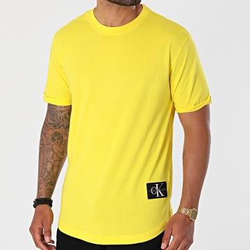 Calvin Klein - Tee Shirt Oversize Badge Turn Up 5319 Jaune