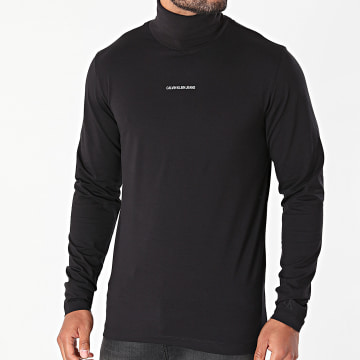 Calvin Klein - Tee Shirt Manches Longues Micro Branding 8469 Noir
