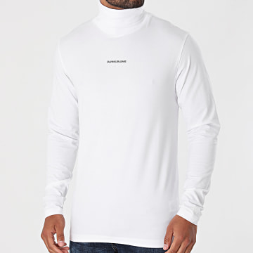 Calvin Klein - Tee Shirt Manches Longues Micro Branding 8469 Blanc