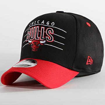 New Era - Casquette 9Fifty Stretch Snap NBA Team 60137566 Chicago Bulls Noir Rouge