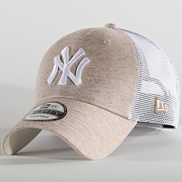 New Era - Casquette Trucker 9Forty Home Field 60137702 New York Yankees Beige Chiné