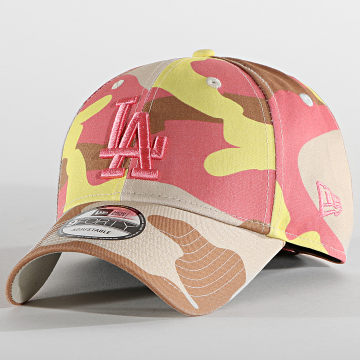 New Era - Casquette 9Forty Camo Pack 60137705 Los Angeles Dodgers Jaune Marron