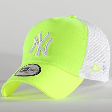 New Era - Casquette Trucker Tonal Mesh 60137741 New York Yankees Jaune Fluo