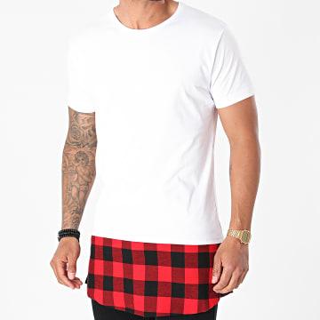 Urban Classics - Tee Shirt Oversize TB1098 Blanc Rouge