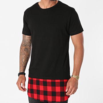 Urban Classics - Tee Shirt Oversize TB1098 Noir Rouge