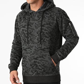 Urban Classics - Sweat Capuche Camouflage TB1411 Gris Anthracite Camouflage