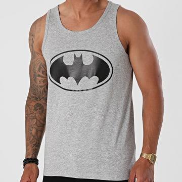 Batman - Débardeur Logo Gris Chiné Noir