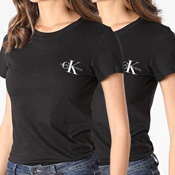 Calvin Klein - Lot De 2 T-Shirts Femme 4364 Noir