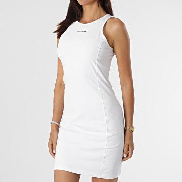 Calvin Klein - Robe Débardeur Femme Micro Branding 6265 Blanc
