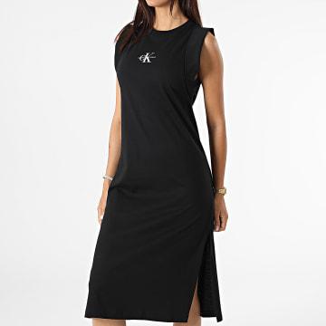 Calvin Klein - Robe Débardeur Femme Knotted 6271 Noir